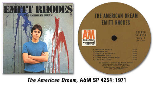 The American Dream, A&M SP 4254: 1971