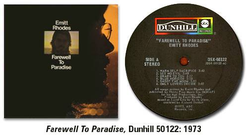 Farewell To Paradise, Dunhill 50122: 1973